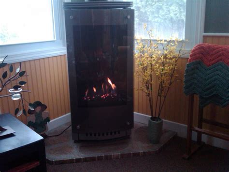 heat glo gas stove from fireplace in