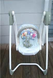 graco pooh bear swing graco gentle choice baby swing with toy bar 6 speed 15