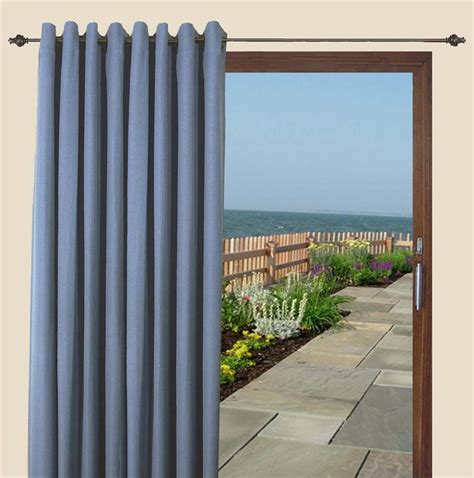 canvas blackout patio curtain panel in 5 colors