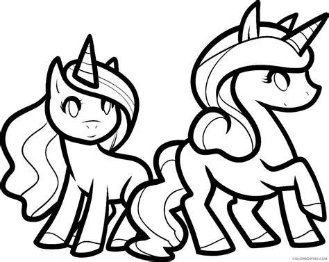 Cute Unicorn Coloring Pages To Print Coloring4free Coloring4free Com Coloring Pages 4