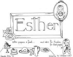 quot book of esther quot bible coloring page