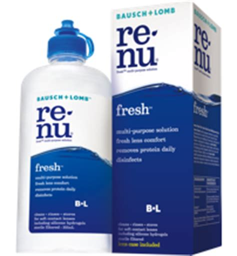 cleaning soft contact lenses renu fresh multi purpose solution bausch lomb