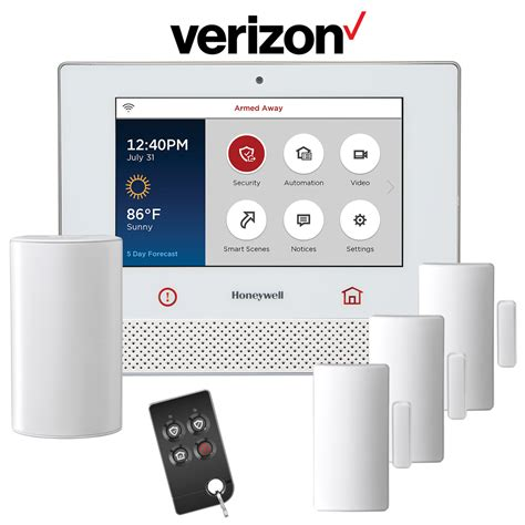 cellular home security honeywell lyric cellular cdma wireless security system kit