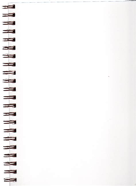 sketchbook png pre cut blank spiral notebook page by bnspyrd on deviantart