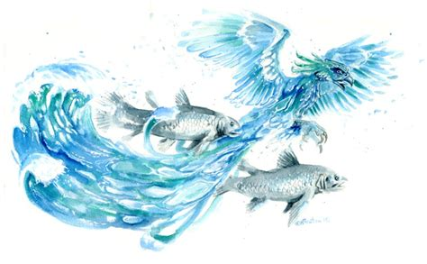 water phoenix by hbruton on deviantart
