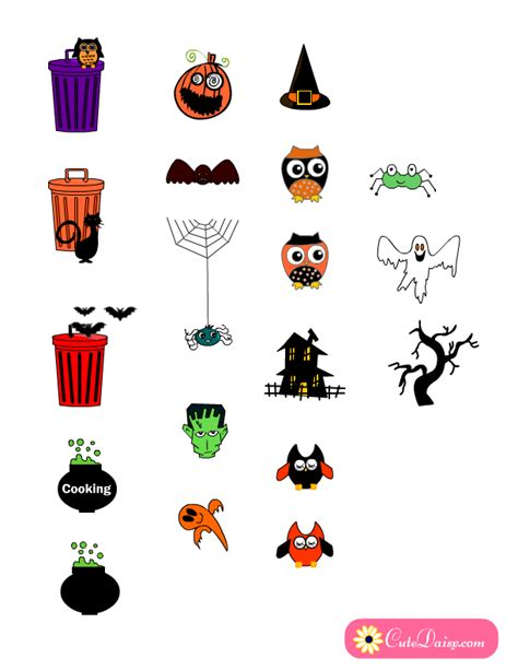 printable stickers for halloween free printable halloween themed planner stickers