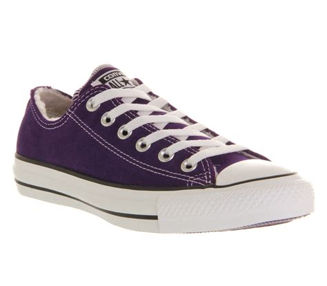 Converse Low 5 mens converse converse all low purple shearling
