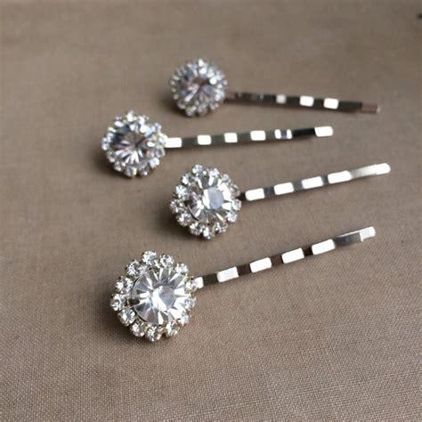 Rhinestone Hair Clip wedding hair clip rhinestones silver hairpin rhinestone