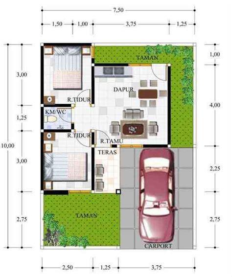 denah rumah minimalis type 21 60 desain rumah minimalis type 21 1 2 lantai sederhana