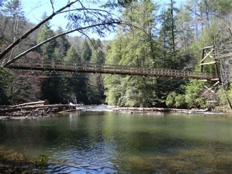 blue ridge swinging bridge toccoa river swinging bridge southern highroads trail