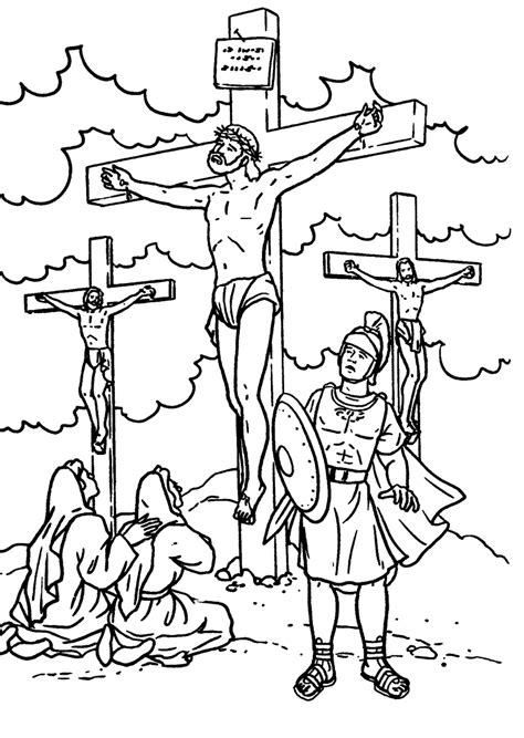 coloring pages jesus crucified the huddle coloring pages