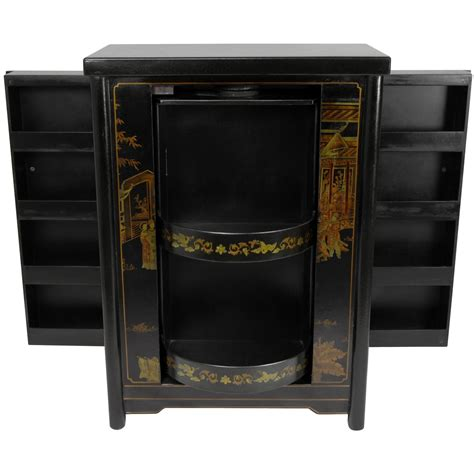 japanese black lacquer cabinet oriental furniture black lacquer wine cabinet 768 00