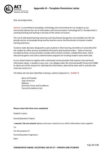 consent letter for child observation communities policy 190813