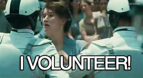 Volunteer Meme - gif lol funny all time low hunger games alex gaskarth