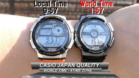 Casio Ae 1100 japan casio ae 1100 1000 4 time zone world time
