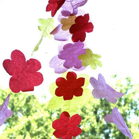 How To Make Tissue Paper Flower Garland - diy garland bunting 25 free diy projects to make the