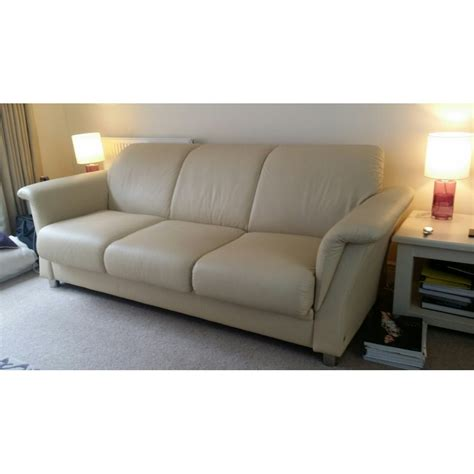 couch p ekornes stressless e40 3 seater leather sofa by home of