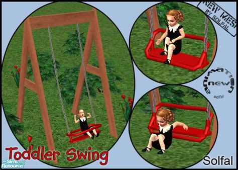 sims 2 baby swing solfal s toddler swing new mesh