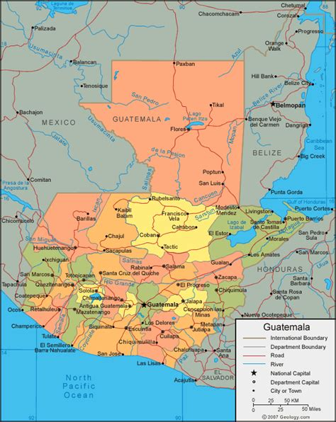 where is guatemala on the map guatemala secorps