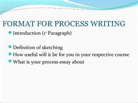 Define Process Essay by Tutorial 3 Pre Writing Process Essay Format