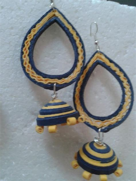 Jhumkas With Paper - 1000 images about paper jhumka on paper