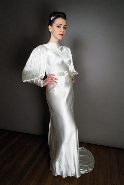 Designer Copy Wedding Dresses by 1930s Vintage Wedding Dresses A Guide To The Decade Of