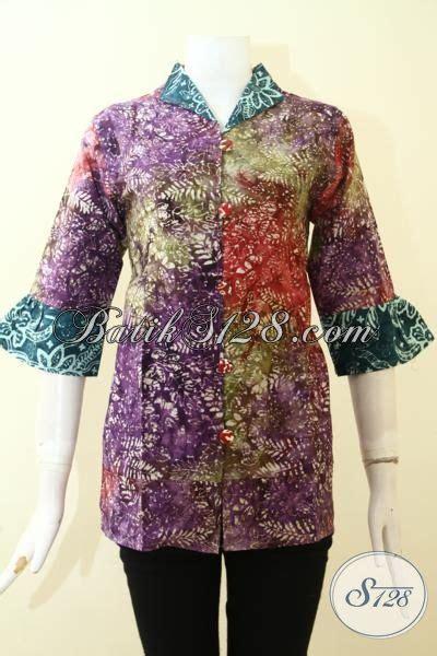 Batik Sarimbit Gradasi Doby Cap busana batik modern warna gradasi motif keren berkelas