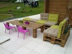 Bench Banquette Pallet Garden Furniture