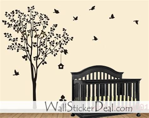 Tree And Bird Wall Stickers happy tree with birds wall sticker home decorating photo
