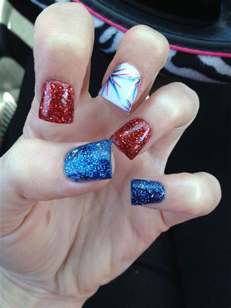 awesome   july acrylic nail art designs ideas