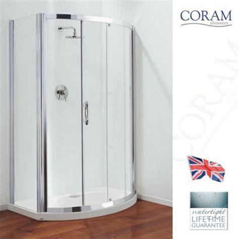 Coram Premier Shower Doors Buy Coram Premier Bow Front Sliding Door Shower Enclosure 1200mm X 850mm Low Profile Tray 6mm