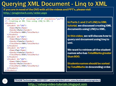 c xml tutorial linq sql server net and c video tutorial part 3 querying