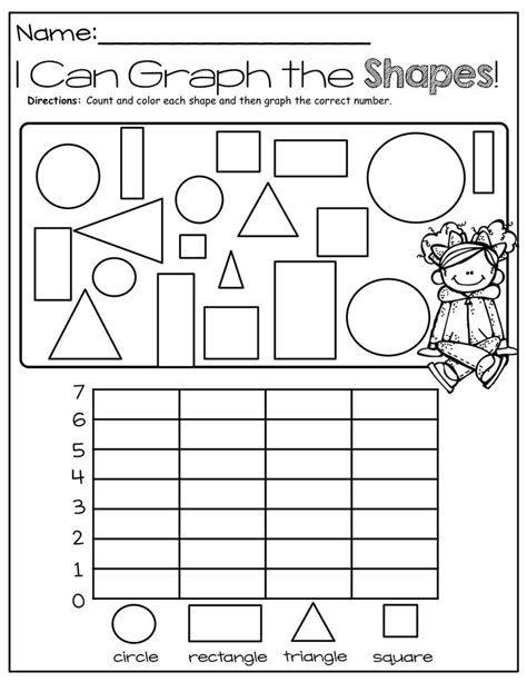 printable graphs for preschoolers graphing shapes education pinterest coloring fine