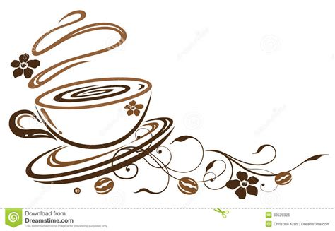 Kitchen Embroidery Designs by Coffee Cup Royalty Free Stock Image Image 33528326