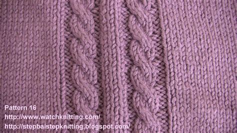 knit cable embossed knitting stitches knitting