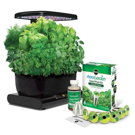 hydroponic herb garden kit aerogarden led