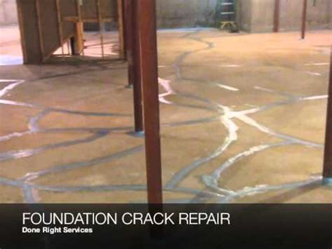 cracked basement floor done right services foundation repair basement