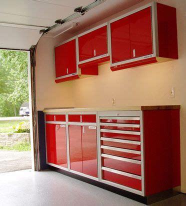 red garage cabinets garage door makeover metal garage