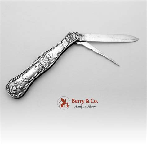 silver pocket knife all silver folding pocket or fruit knife sterling silver