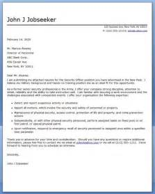 Security Receptionist Cover Letter by Security Officer Cover Letter Career