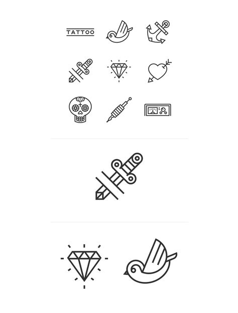 tattoo icons great collection of free vector icons and pictograms for
