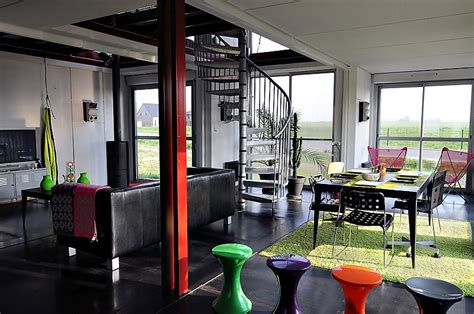 Container Homes Interior by Maison Container By Partouche Homedsgn