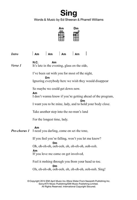 ed sheeran easy chords sing sheet music by ed sheeran ukulele 121868