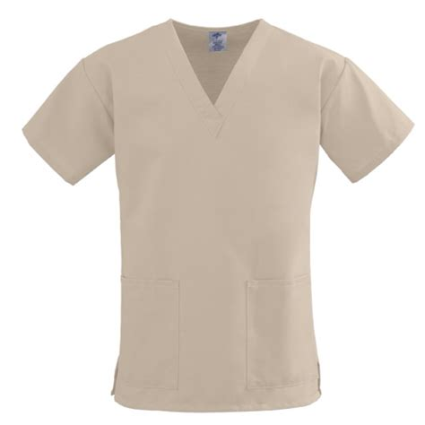 medline comfortease scrub tops khaki healthcare