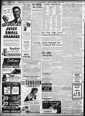 The Evening News Newspaper Wilkes Barre Times Leader The Evening News From Wilkes Barre Pennsylvania On July 5 1946