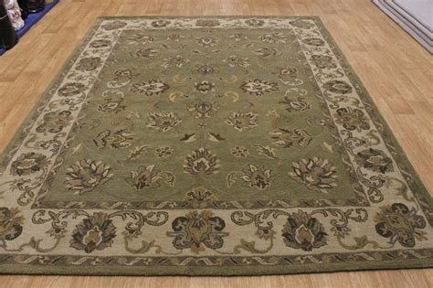 Green Area Rugs 8x10 by Green Allover Floral 8x10 Kashan