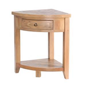 Corner Table by Wittering Solid Oak 1 Drawer Corner L Table Next Day