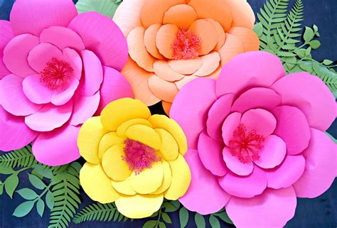 hibiscus paper flower tutorial hibiscus paper flower templates giant paper flower
