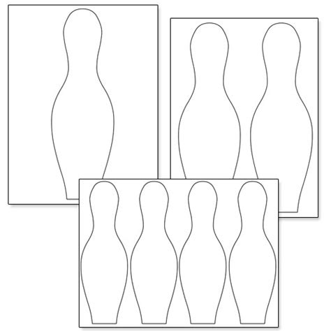 bowling pin template cliparts co