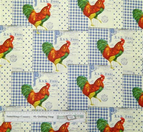 Patchwork Quilting Fabric - patchwork quilting fabric great rooster material